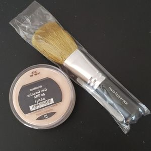 bareMinerals Mineral Veil and Flawless face brush